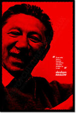 ABRAHAM MASLOW ART QUOTE PRINT PHOTO POSTER GIFT HIERARCHY OF NEEDS