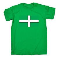 Funny Novelty T-Shirt Mens tee TShirt - Devon Flag