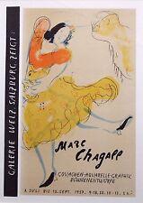 """Marc CHAGALL montato Mourlot litografia, 1959, affiches ORIGINALES 14 x 11"""" AO23"""