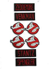 Ghostbusters Kostüm Genaue Namens und Logo Patch Aufnäher / Bügelbild - Set of 8