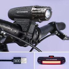 BerlinStandard | USB Wiederaufladbare | Fahrradbeleuchtung LED Fahrradlicht set