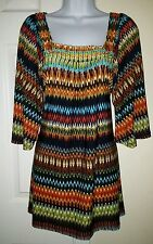 Méchant Color Zig Zag Beaded Kimono Top Size S
