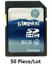 50 x 8GB Kingston SDHC SD Card Class 4 C4 Memory Card 8G for Camera