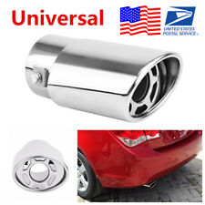 Stainless Steel Car Round Exhaust Pipe Tip Muffler Tail Throat Cover Car-Styling