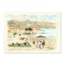 """Urbain Huchet """"Seaside"""" Signed Limited Edition Lithograph on Paper"""