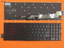 New Dell Inspiron Gaming 15-7566 Black Keyboard(Backlit,Red Printing)US Layout