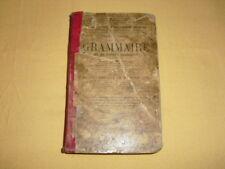 Cours supérieur de Grammaire et de langue française Rocherolles Pessonneaux 1889