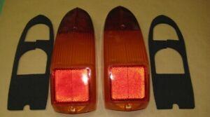 """MG Rear Lamp Stop Light """"LUCAS"""" Lens + seals + screws MGB MGBGT Midget 1970-80"""