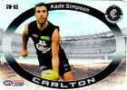KADE SIMPSON LIMITED TEAMCOACH 2017 CARLTON STAR WILD SW-03 FOOTBALL CARD