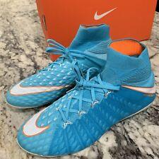 W Nike Hypervenom PHM 3 DF AG-PRO Blue Womens Soccer Cleats Size 8.5 881547-415