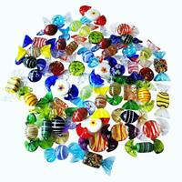 Sujeetec 24pcs Handmade Vintage Murano Style Various Glass Sweets Glass Candy Or
