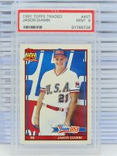1991 Topps Traded Jason Giambi Team USA XRC Rookie RC #45T PSA 9 MINT (726) D32