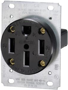 279 50 Amp 125/250 Volt, NEMA 14-50R, 3P, 4W, Flush Mounting Receptacle Outlet