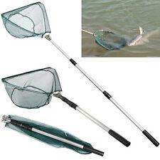 Folding Fishing Triangular Landing Net 3 Section Extending Pole Handle