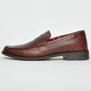 SAVE 80% TODAY - Red Tape REAL LEATHER Mens Slip On Loafer Shoes From £9.99