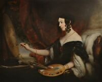 CHRISTINA ROBERTSON SCOTTISH PORTRAIT WOMAN ARTIST RUSSIAN OIL 1796-1854
