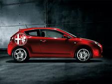 Alfa Romeo Logo Emblem Batch Aufkleber Folie - SET 2 Sticker