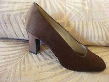 NWOB Stuart Weitzman Chocolate Brown Satin Classic Heels Pumps ~ Sz 9.5M  $165