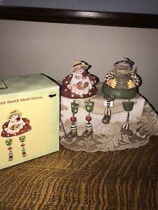 Country Rustic Cracker Barrel Susan Winget Shelf Sitters Beekeeper Grandma Apple
