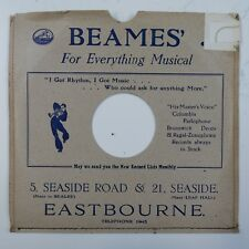 "10"" 78rpm gramophone record sleeve BEAMES eastbourne"