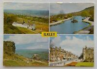 Ilkley Yorkshire Cow and Calf Rocks The Tarn The Grove 1988 Postcard (P336)
