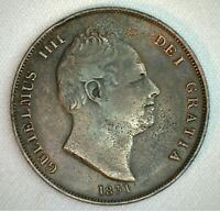1831 Great Britain Penny Coin Copper Cleaned You Grade