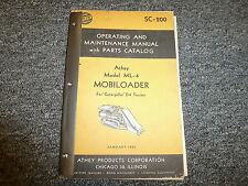 Athey Truss 41 W41 Mobiloader for Cat D4 R4 Tractor Operator Maintenance Manual