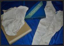 Vintage Wäscheset Schiesser Gr. 38 Slip + Unterhemd Chemise ungetr. OVP (H311)