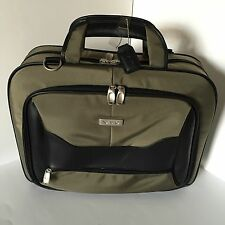 Vaio Laptop Notebook Travel Bag Carrying Case With Handle & Shoulder Strap Green