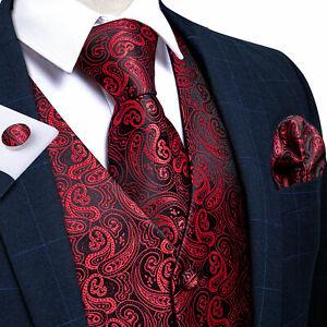 UK Mens Paisley Waistcoat Formal Business Suit Vest Blue Black Slim Wedding Coat