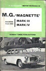 MG Magnette Mk III + Mk IV Saloons from 1959 Motor Manual by P Olyslager Pub '62