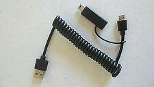 Ladekabel Kabel Adapter USB 2.0 A micro USB mini USB B Spiralkabel Verlängerung
