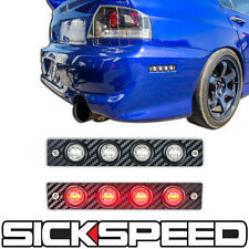 LED MARKER LIGHTS CLEAR LENS CARBON FIBER WRAP SIDE PANEL BUMPER EVO 9 IX
