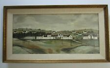 VINTAGE BUFFET STYLE PAINTING FRENCH SCHOOL OF PARIS MODERNISM LANDSCAPE URBAN