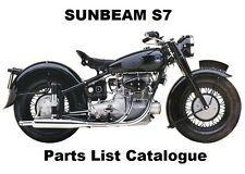 SUNBEAM S7 S8 - Workshop Parts List Manual PDF on CD-R for Owners Repair Service