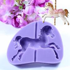 3D Carousel Horse Silicone Cake Mold Christmas Cupcake Topper Chocolate Baking