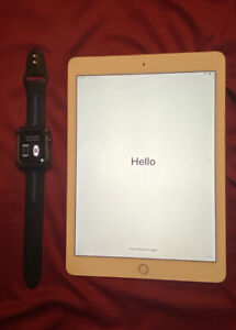 Combo 🟢 lPad Air 2nd Gen (16)Gb With IWatch Series 1 Works Great!!