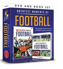 GREATEST MOMENTS OF FOOTBALL BOOK & DVD GIFT SET - TOP TEN GREATEST MOMENTS DVD
