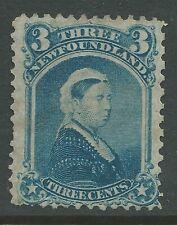 NEWFOUNDLAND #34 Unused - 3c blue - Queen Victoria