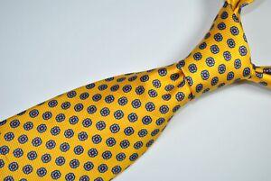 ROBERT TALBOTT BEST OF CLASS NORDSTROM Tie 100% Silk Yellow Color L58 W3.5