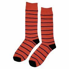 NWT Salmon Stripe Dress Socks Novelty Men 8-12 Salmon Fun Sockfly