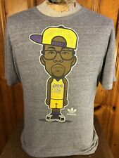 Adidas Lakers Dwight Howard #12 Cartoon Gray Distressed T-Shirt Mens Size 2XL