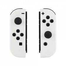 Custom Soft Touch White Housing Shell With Buttons for Nintendo Switch Joy-Con