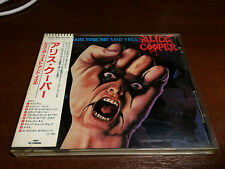 ALICE COOPER Raise Your Fist And Yell CD 1st press PROMO Japan 32XD-866 w/OBI
