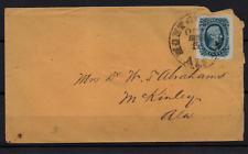 More details for usa circa 1863 10c blue jefferson davis civil war cover ws22957