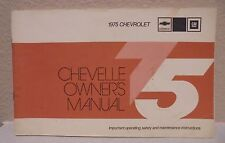 1975 Chevrolet Chevelle Owners Operators Manual 75 Chevy