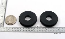 "2 Large Rubber Grommets 1 1/2"" Inner Diameter Fit 1 1/4"" panel hole 1/16"" Groove"