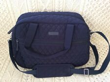 Vera Bradley Compact Weekender in Navy Blue Quilted Water-Repellant Polyester