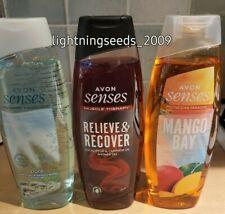 Avon SENSES Ladies Shower Gel 500ml EUCALYPTUS / WHITE MUSKS / MANGO PINEAPPLE