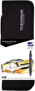 Prismacolor Premier Double-Ended Marker Set of 48 w/ Case NEW! UK